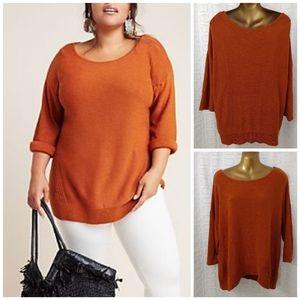Anthropologie burnt orange sweater M/L